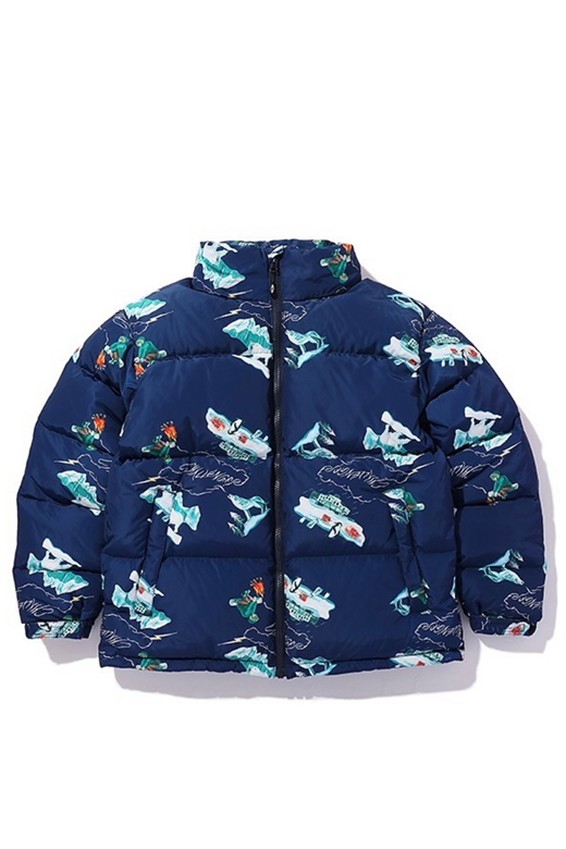 PRINTED DOWN JACKET